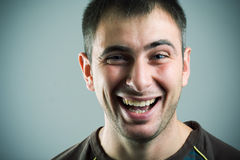 Laughing men. Stock Photo
