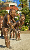 The Laughing Men statues (2) at English Beach Vancouver Stock Photos