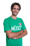 Laughing mexican sports fan with beard Royalty Free Stock Images
