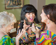Laughing Middle Aged Women Smoking Royalty Free Stock Photos