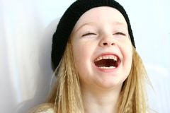 Laughing model royalty free stock photo