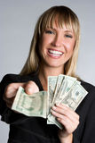 Laughing Money Businesswoman Stock Photos