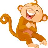 Laughing  monkey Royalty Free Stock Photography