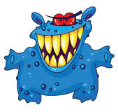 Laughing monster vector illustration
