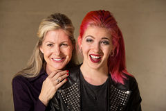 Laughing Mother and Daughter stock photo