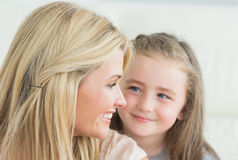 Laughing mother and daughter Royalty Free Stock Images