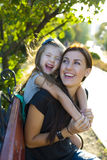 Laughing mother and daughter Stock Photography
