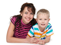 Laughing mother with her son Royalty Free Stock Images