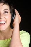 Laughing Music Girl Stock Photography