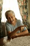 Laughing Old Lady Royalty Free Stock Photos