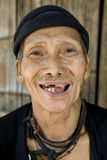 Laughing old man with bad teeth, Laos Stock Photos