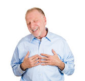 Laughing older man Stock Photo