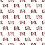 Laughing Out Loud Emoji Pattern Royalty Free Stock Image