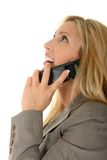 Laughing On The Phone Stock Photos