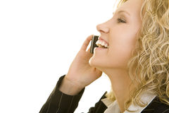 Laughing on the phone Stock Image