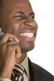 Laughing Phone Person Stock Photography