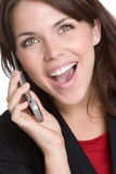 Laughing Phone Woman Royalty Free Stock Photos