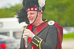 Laughing Pipe Major at Tain Gala Royalty Free Stock Photos