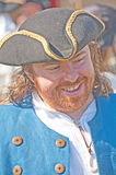 Laughing Pirate with tricorn hat Stock Photos