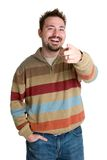 Laughing Pointing Man Stock Photos