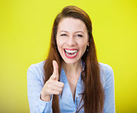 Laughing pointing at you Royalty Free Stock Images