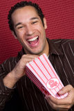 Laughing Popcorn Man Stock Photography