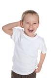 Laughing preschool boy Stock Image