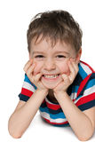 Laughing preschool boy Stock Photos