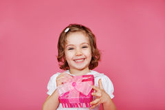 Laughing preschool girl Royalty Free Stock Images