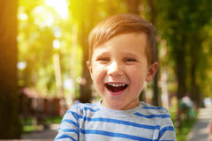 Laughing pretty boy Royalty Free Stock Photos