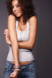 Laughing pretty women Stock Photography