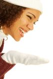 Laughing in profile Royalty Free Stock Photo