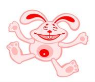 Laughing rabbit Stock Photo
