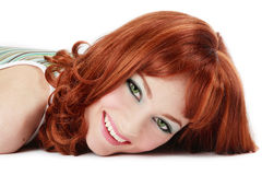 Laughing redhead Royalty Free Stock Images