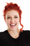Laughing redhead female Stock Photos