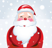 Laughing Santa Claus in the snow Stock Photos