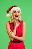 Laughing Santa girl Royalty Free Stock Photography