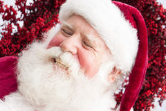 Laughing Santa Royalty Free Stock Images