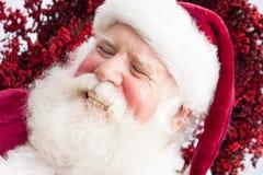 Laughing Santa Royalty Free Stock Images