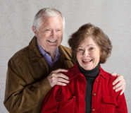Laughing Senior Couple Royalty Free Stock Photography