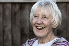 Laughing senior woman Royalty Free Stock Image