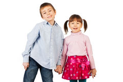 Laughing siblings Royalty Free Stock Photography