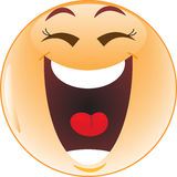 Laughing smiley Royalty Free Stock Photo
