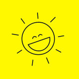 Laughing smiley sun Royalty Free Stock Images