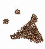 Laughing smilie made of coffee beans Royalty Free Stock Photos