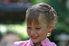 Laughing and Smiling. Little girl smiling being happy stock images