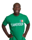 Laughing sports fan from Cameroon Royalty Free Stock Photography