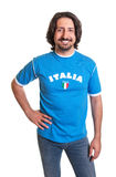Laughing sports fan from Italy Royalty Free Stock Images