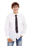 Laughing student with books Royalty Free Stock Images