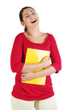 Laughing student girl Royalty Free Stock Photo